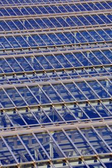 Glass panels on the roof of Waverley Station in Edinburgh, Scotland, United Kingdom