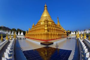 Golden stupa of Sandamuni Pagoda, Mandalay, Myanmar (Burma)