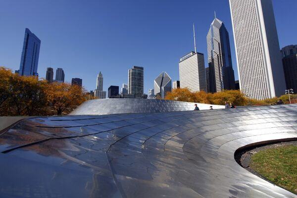 BP Pedestrian Bridge, Chicago, Illinois, America
