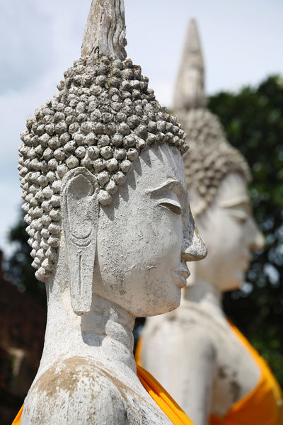 Two Buddha statues at Wat Yai Chaimongkol Temple, Ayutthaya