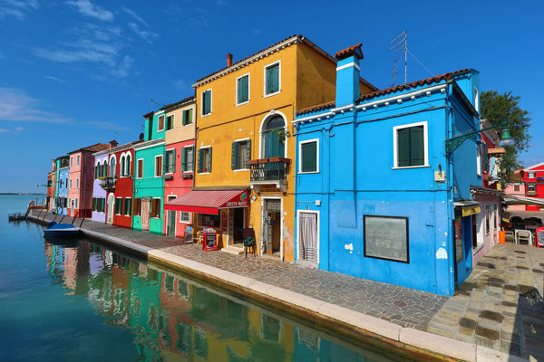 Canal and colourful houses Burano Island, Venice, Italy