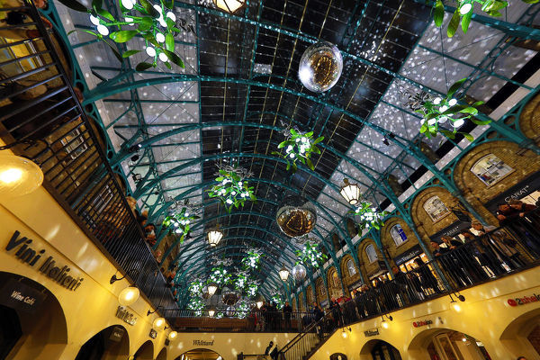 Christmas Lights Switched On In Covent Garden Market London