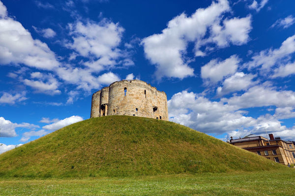 Clifford's Tower at York Castle in York, Yorkshire, England