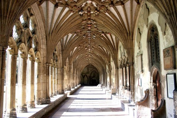 Cloisters of Canterbury Cathedral, Canterbury, Kent, England