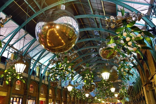 The Covent Garden Christmas Decorations And Lights Have Been Put Up In Covent  Garden And This