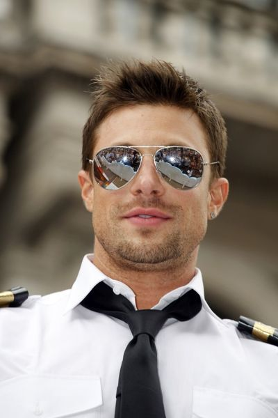 Duncan James of Blue in the London Gay Pride Parade 2011