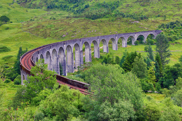 Glenfinnan viaduct, railway viaduct for the West Highland Line, Glenfinnan, Inverness-shire, Scotland