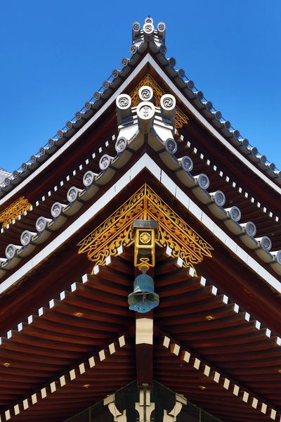 Roof of Higashi Honganji Temple, the Eastern Temple of the Original Vow, in Kyoto, Japan