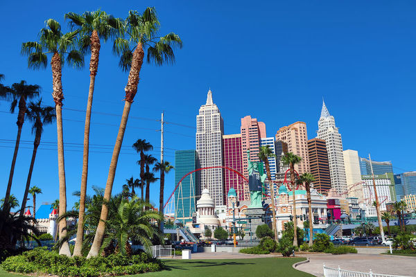 New York, New York Hotel and Casino, Las Vegas, Nevada, America