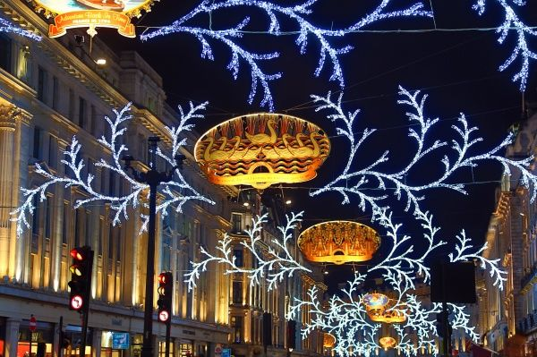 England Christmas Lights.A1 84x59cm Poster Of Regent Street Christmas Lights Switched On London England
