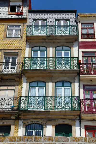 Traditional buildings and houses in Porto, Portugal