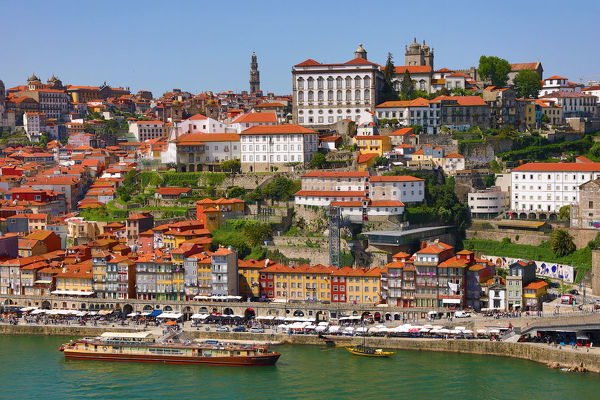 View of the town and River Douro in Porto, Portugal
