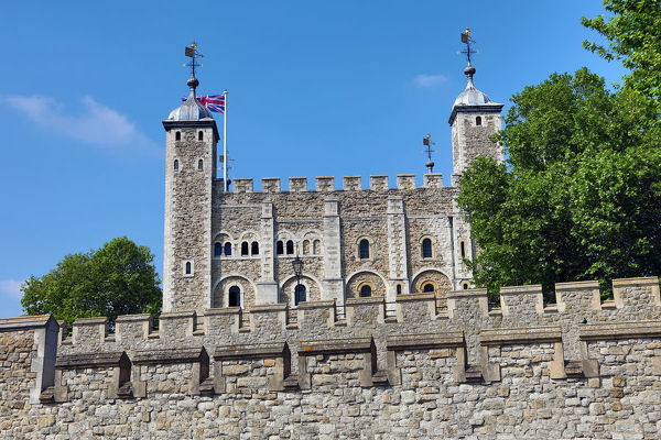 The White Tower in the Tower of London, London, England