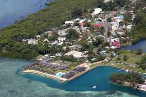 Aerial view of Koror, Koror Island, Republic of Palau, Micronesia, Pacific Ocean