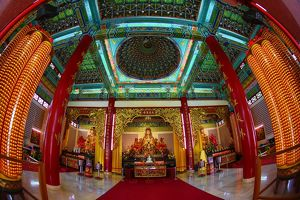 Altar of Mazu, Goddes of the Sea at the Thean Hou Chinese Temple, Kuala Lumpur, Malaysia