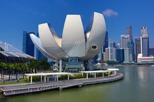 The ArtScience Museum in Marina Bay in Singapore, Republic of Singapore