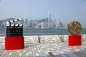 Avenue of Stars and the Hong Kong Skyline