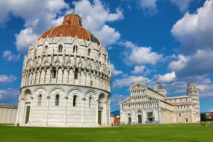 pisa italy/baptistery st john cathedral leaning tower pisa