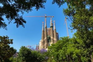 Basilica de la Sagrada Familia cathedral in Barcelona, Spain