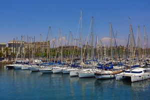 Boats in Barcelona Harbour, Barcelona, Spain