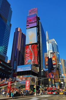 Buildings in Times Square, New York. America