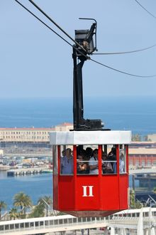 Cable Car crossing Barcelona Harbour, Barcelona, Spain