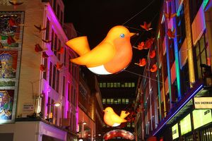 Carnaby Street Christmas Lights switched on, London, England