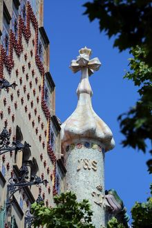Casa Batllo house designed by Gaudi in Barcelona, Spain