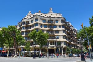 Casa Mila, La Pedrera, Modernist house designed by Gaudi in Barcelona, Spain