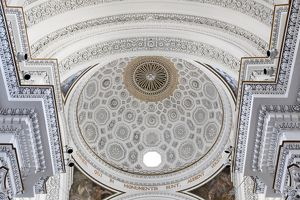 Ceiling of a church in Erice, Sicily, Italy
