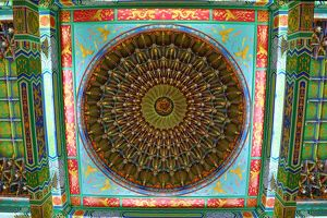 Ceiling decorations on the Thean Hou Chinese Temple, Kuala Lumpur, Malaysia