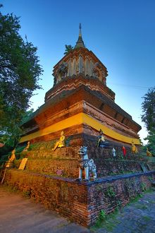 Chedi at Wat Lok Molee Temple in Chiang Mai, Thailand