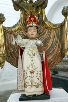 Christ the King as a child in a church in Erice, Sicily, Italy