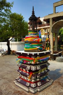 City Pillar Shrine at Wat Chedi Luang Temple in Chiang Mai, Thailand