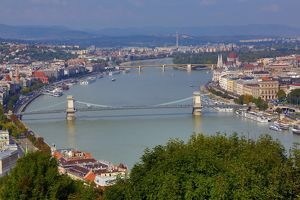 City Skyline and the River Danube in Budapest, Hungary