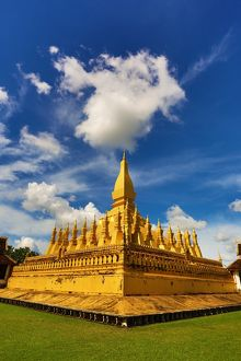 Cloud over Pha That Luang temple gold Stupa, Vientiane, Laos