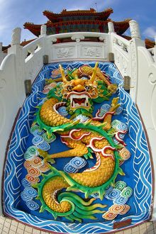 Dragon face decoration at the Thean Hou Chinese Temple, Kuala Lumpur, Malaysia