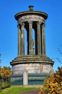 The Dugald Stewart Monument on Calton Hill in Edinburgh, Scotland, United Kingdom