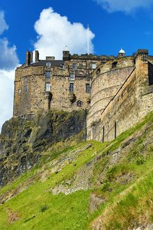 Edinburgh Castle and walls in Edinburgh, Scotland