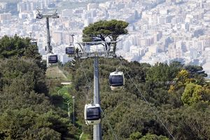 Erice to Trapani cable car, Sicily, Italy