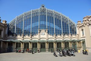 Estacio del Nord railway station in Barcelona, Spain