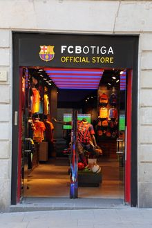 FC Botiga Spanish football team official shop, Barcelona, Spain