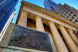 Federal Hall on Wall Street, New York. America