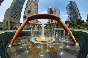 The Fountain of Wealth at Suntec City in Singapore, Republic of Singapore