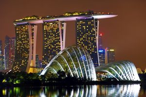 Gardens by the Bay and Marina Bay Sands Hotel, Singapore