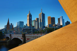 General view of the city skyline, Melbourne, Victoria, Australia