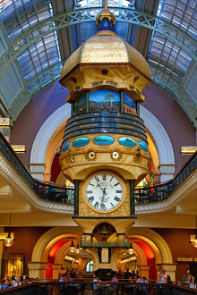 The Great Australian Clock in the Queen Victoria Building shopping centre, Sydney