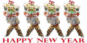 Happy Chinese New Year, Lion Dance souvenir