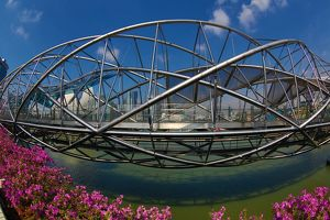 The Helix Bridge in Singapore, Republic of Singapore