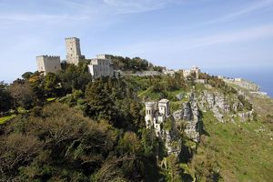 Hilltop view of Erice, Sicily, Italy